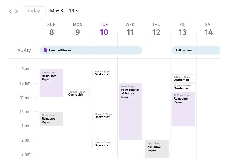 taskruler scheduling calendar